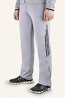Классические серые штаны спортивные для мужчин и подростков