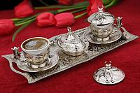 Набор чашек для кофе Серебрянная медаль Sena на 2 персоны
