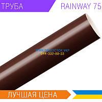 Трубы водосточные RAINWAY 75мм Коричневые
