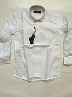 Рубашка белая для мальчиков 5-6
