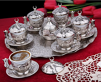 Набор чашек для кофе Серебрянная медаль на 6 персон, фото 1