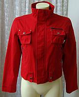 Куртка модная красная весна XDF р.42-44 6567, фото 1