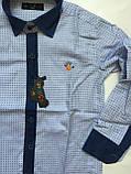 Рубашка с джинс отделкой для мальчиков 5-16 лет, фото 2