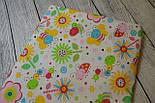Лоскут ткани №101 с цветочным принтом, фото 2