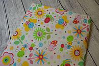 Лоскут ткани №101 с цветочным принтом