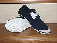 Кеды, мокасины на шнурках синие 36 для спорта, фитнеса
