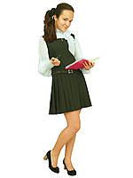 Сарафан школьный для девочки зеленый М-665   рост 110-176 , фото 1