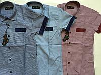Рубашка с коротким рукавом в клетку для мальчиков 5-16 лет