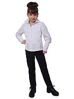 Блузка детская для девочек школьная М-714  рост 128-170 белая