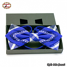 Синяя фигурная бабочка Влад, фото 2