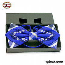 Синяя фигурная бабочка Влад, фото 3