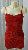Платье красное модное мини H&M р.42 6549