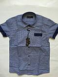 Рубашка с коротким рукавом в клетку для мальчиков 5-16 лет, фото 2