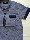 Рубашка с коротким рукавом в клетку для мальчиков 5-16 лет, фото 3