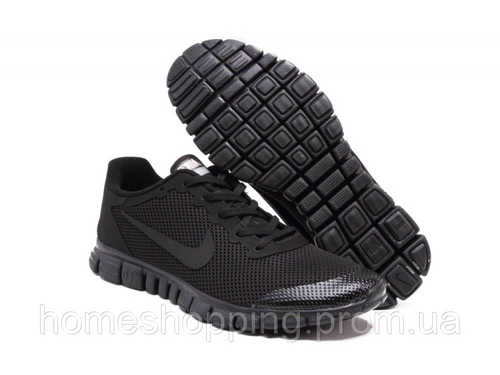 Кроссовки мужские Nike Free 3.0 V2 Black черные11