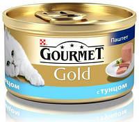 Консервы для кошек GOURMET GOLD (Гурмет Голд) паштет из тунца, 85 гр