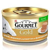 Консервы для кошек GOURMET GOLD (Гурмет Голд) утка с овощами, 85 гр