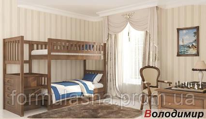Двухъярусная кровать Владимир с лестницей-комодом, фото 2