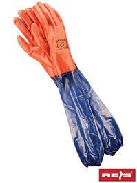 Рабочие перчатки с покрытием ПВХ