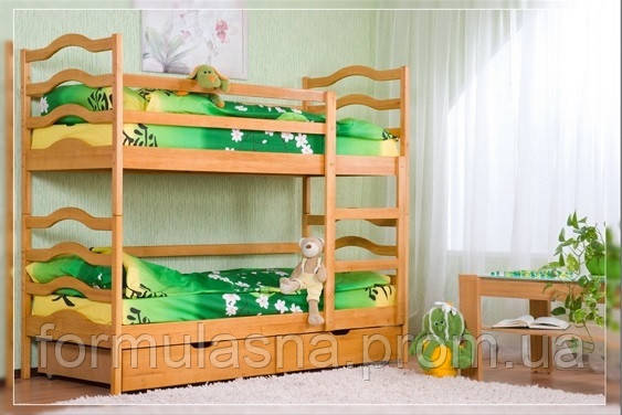Кровать двухъярусная София с подкроватными ящиками