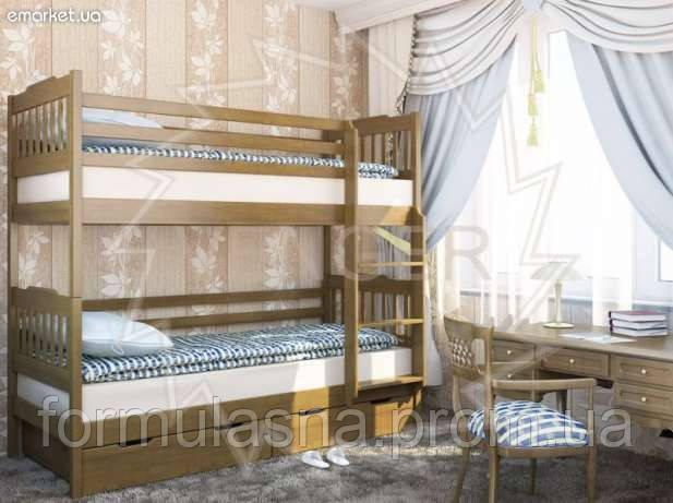 Кровать двухъярусная Ева с подкроватными ящиками