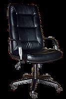 [ Кресло Senator PL Tilt D-5 + Подарок ] Офисное кресло с пластиковыми подлокотниками эко кожа черный