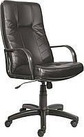 [ Кресло Sparta D-5 + Подарок ] Офисное кресло с пластиковыми подлокотниками винилис кожа черный