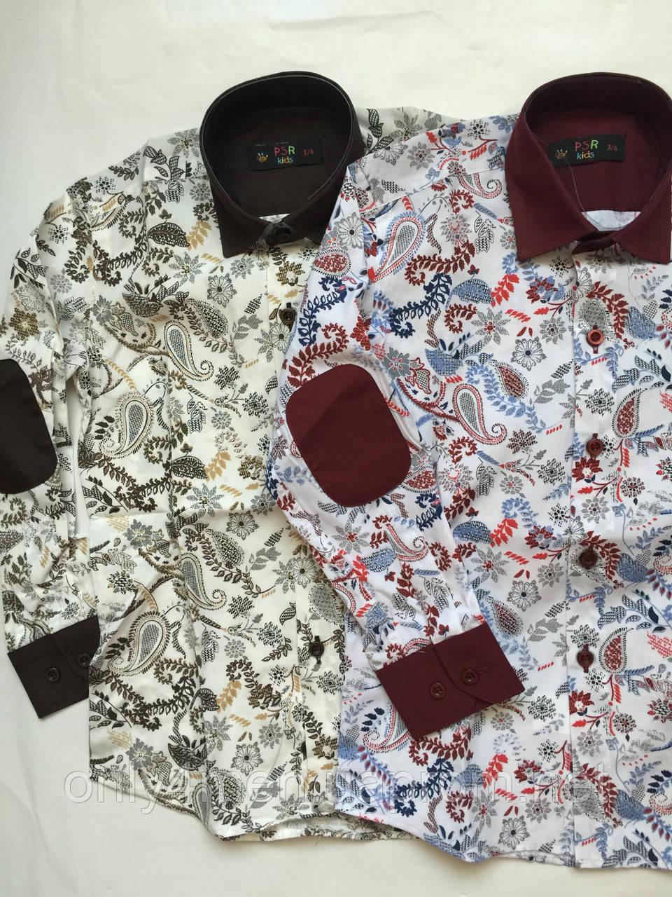 Рубашка цветочная для мальчиков 5-16 лет Турция