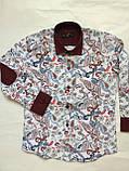 Рубашка цветочная для мальчиков 5-16 лет Турция, фото 5
