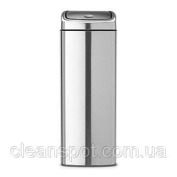 Корзина металева матова з кришкою Brabantia Touch Bin