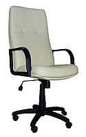 [ Кресло Sparta H-17 + Подарок ] Офисное кресло с пластиковыми подлокотниками эко кожа светло-бежевый