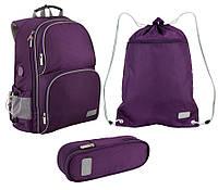 Школьный набор для девочки Рюкзак, сумка для обуви, пенал Kite Smart 702-2