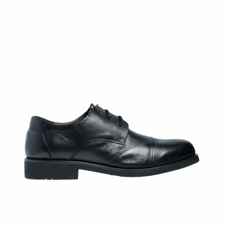 Туфли мужские классические весна/осень из натуральной кожи черные