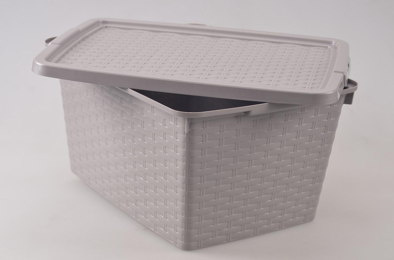 Контейнер для хранения пластиковый под ротанг 40 л, 59*39*26 см, Heidrun 4512