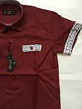 Рубашка с коротким рукавом,клетка для мальчиков 5-16 лет, фото 2
