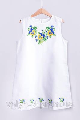 Платье детское вышитое без рукавов