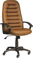 [ Кресло Tunis H-40 + Подарок ] Офисное кресло с пластиковыми подлокотниками эко кожа коричневый
