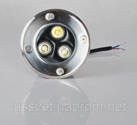 Светильник грунтовый тротуарный EKO 3W led