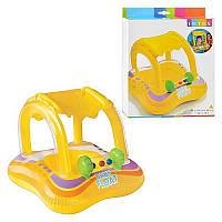 Детский надувной плотик с навесом 56581 Intex