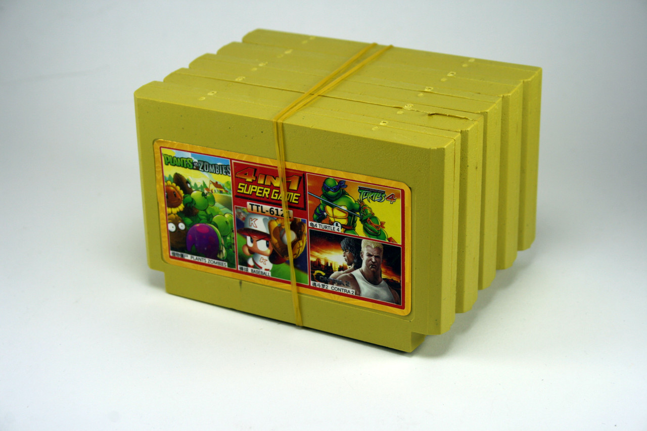 Сборник игр 4 в 1 Plants Zombies, Baseball, Turtle4, Contra2