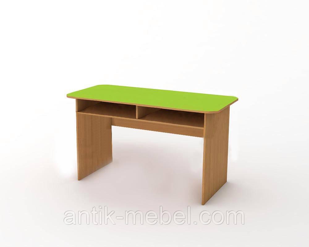 Детский стол двухместный с полкой
