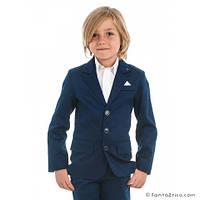 Школьная форма пиджак На мальчика  темно синего цвета с  карманом на груди мал. синий, 98 % хлопок,  2 % эласт