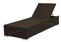 Шезлонг кровать AARHUS: 70х198х30 см, сталь, петан, 5 позиций спинки, коричневый