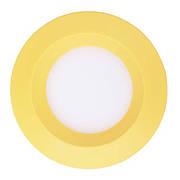 Светодиодный светильник, круг, 3W Желтый