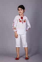 Вишита блуза для дівчинки з унікальним орнаментом