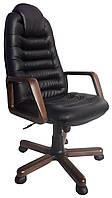 [ Кресло Tunis P Extra D-5 1.031 + Подарок ] Офисное кресло с деревянными подлокотниками эко кожа черный