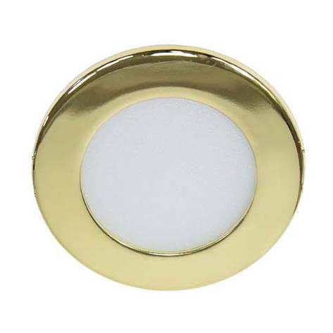 Светодиодный светильник, круг, 6W Золотой, фото 2