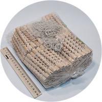 Бигуди деревянные спиральные 10см 180шт/уп