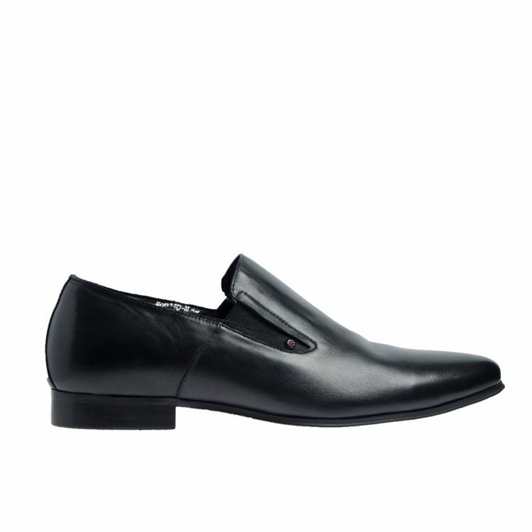 Туфли мужские классические зима натуральная кожа и овчина черные