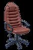 [ Кресло Tunis P H-2221S Brown + Подарок ] Офисное кресло с пластиковыми подлокотниками эко кожа коричневый